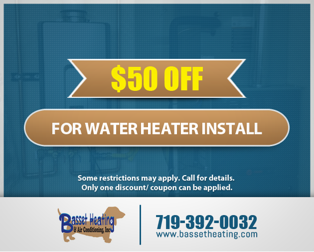 $50 OFF FOR WATER HEATER INSTALL